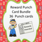 Reward Punch Cards bundle 36 Themes