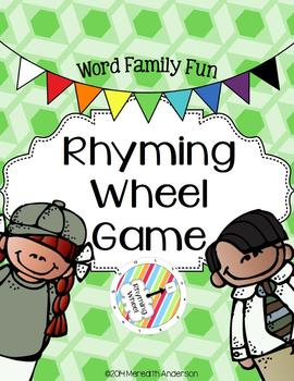 Rhyming Wheel Game: Word Family Fun with Rhymes