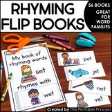 Rhyming Flip Books {45 Books to Practice Rhyming Words / W
