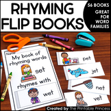 Rhyming Flip Books {45 Books to Practice Rhyming Words / W
