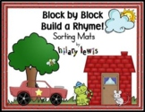 Rhyming Sorting Mats-Block by Block Build a Rhyme