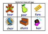 Rhyming Word Flash Cards with Matching Board Set B