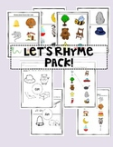Rhyming Words Pack: Let's Rhyme!
