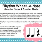 Rhythm Whack-A-Note: Quarter Notes and Quarter Rests