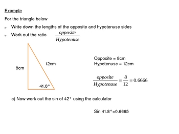 Right Angled Trigonometry power points