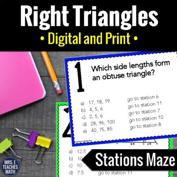 A Peek Inside My Right Triangles Unit - Freebies Included!