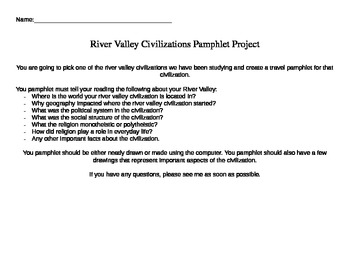 River Valley Civilizations Pamphlet Project