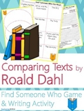 Roald Dahl Author Study {Comparison & Contrast Writing and Game}