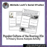 Roaring 20s Popular Culture U.S. History Primary Source An