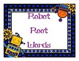 Robot Root Words sorting activity