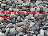 Rock Notes- Three Types of Rock (Igneous, Sedimentary, Met