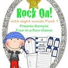 Rock On Sight Words Four in a Row Game Free Sample from Ro