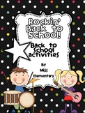 Rockin' Back to School! [Back to School Activities]