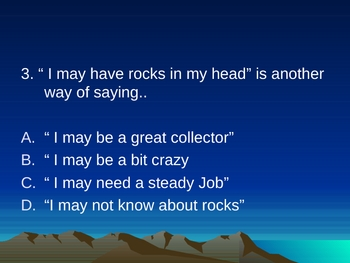 Rocks in His Head - Powerpoint