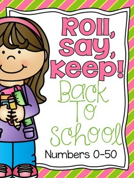 Roll, Say Keep {Back To School Numbers}