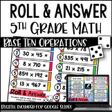 Roll and Answer Math Centers for Common Core *Numbers & Op