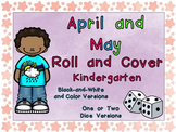 Roll and Cover Games for April and May for Kindergarten Ea