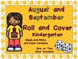 Roll and Cover Games for August and September for Kindergarten