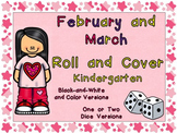 Roll and Cover Games for February and March- Kindergarten