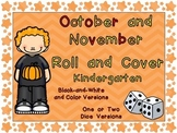 Roll and Cover Games for October & November Kindergarten H