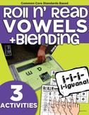 Roll and Read Short Vowels | CVC Blending | Kindergarten R