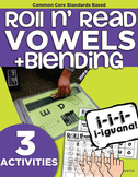 Roll and Read Short Vowels | CVC Blending | Kindergarten R