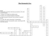 Romantic Era Crossword Puzzle