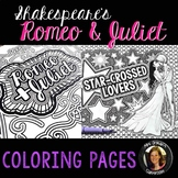 Romeo & Juliet Shakespeare Coloring Pages