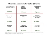 Romeo and Juliet: Differentiated Assessment