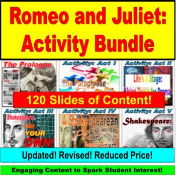Romeo and Juliet, Shakespeare JUMBO Powerpoint