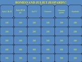 Romeo and Juliet by Shakespeare Jeopardy PowerPoint Game