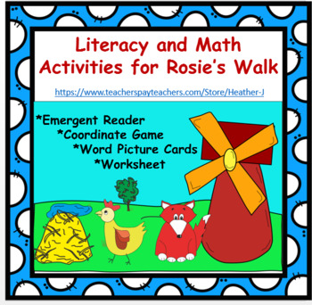 Rosie's Walk Set:   Emergent Reader, Coordinate Game, Boar