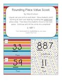 Rounding Place Value Scoot - Colorful