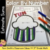 Rounding to Estimate Sums - Color Your Answers Printables