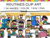 Routines Clip Art