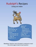 Rudolph's Christmas Recipes using an index