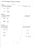 Rules for Changing a (Repeating) Decimal to a Fraction