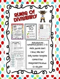 Rules of Divisibility Posters, Games and Review Activities
