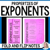 Properties of Exponents Fold and Flip Notes