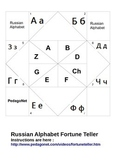 Russian Alphabet Fortune Teller