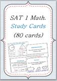 SAT I Math dictionary vocabulary FLASHCARDS 80 cards