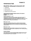 SBAC Grade 11 ELA Performance Task #4 (Smarter Balanced)