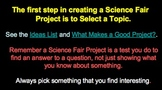SCIENCE FAIR PLANNING AND PRACTICE COMPLETE UNIT