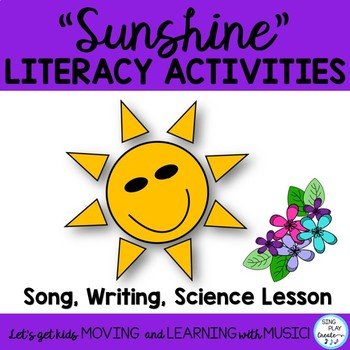 "SCIENCE SONG ""Sunshine, Sunshine"" *Lesson *Writing *Mp3 Tracks"