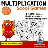 SCOOT! - Multiplication Facts - Grades 2 and 3