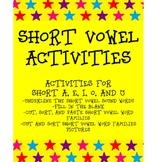 SHORT VOWEL SOUND ACTIVITIES