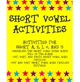 SHORT VOWEL SOUND ACTIVITIES