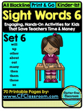 SIGHT WORDS:SET 6 {games printables flashcards activities