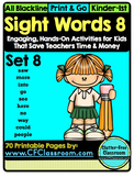 SIGHT WORDS:SET 8 {games printables flashcards activities