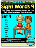 SIGHT WORDS:SET 9 {games printables flashcards activities